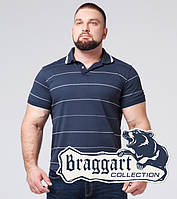 Футболка поло большого размера Braggart - 6685-1 синий