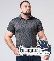 Поло футболка большого размера Braggart - 6658-1 синий, фото 1