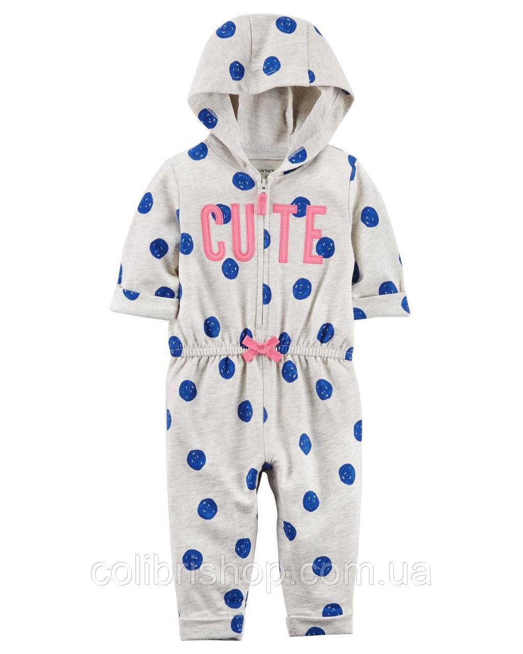 Комбинезон с капюшоном для девочек (18 мес) Carters  Cute Hooded Jumpsuit