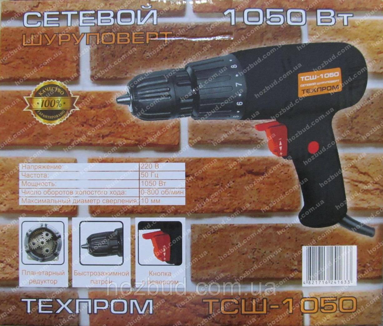 Мережевий шуруповерт Техпром ТСШ-1050