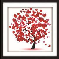 """Алмазная вышивка """"Дерево сердечко"""""""