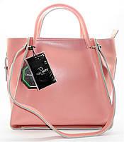 Женская сумочка GАLАNTY из натуральной кожи розового цвета BES-013200, фото 1
