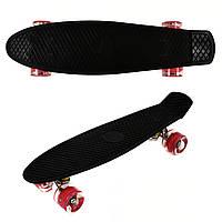 Скейт Profi Penny Board LED MS0848-2 Черный