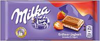 Шоколад MILKA Strawberri Yoghurt (Клубничный йогурт) Швейцария 100г