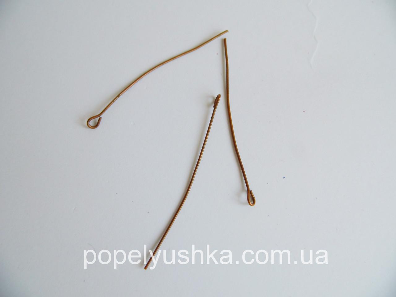 """Булавка для ожерелья с """"ушком"""" Медь 5 см (5 шт)"""