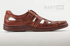 Мужские кожаные летние туфли  030 кор. 40