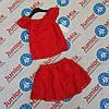 Детский нарядный гипюровый костюм для девочек оптом Fashion