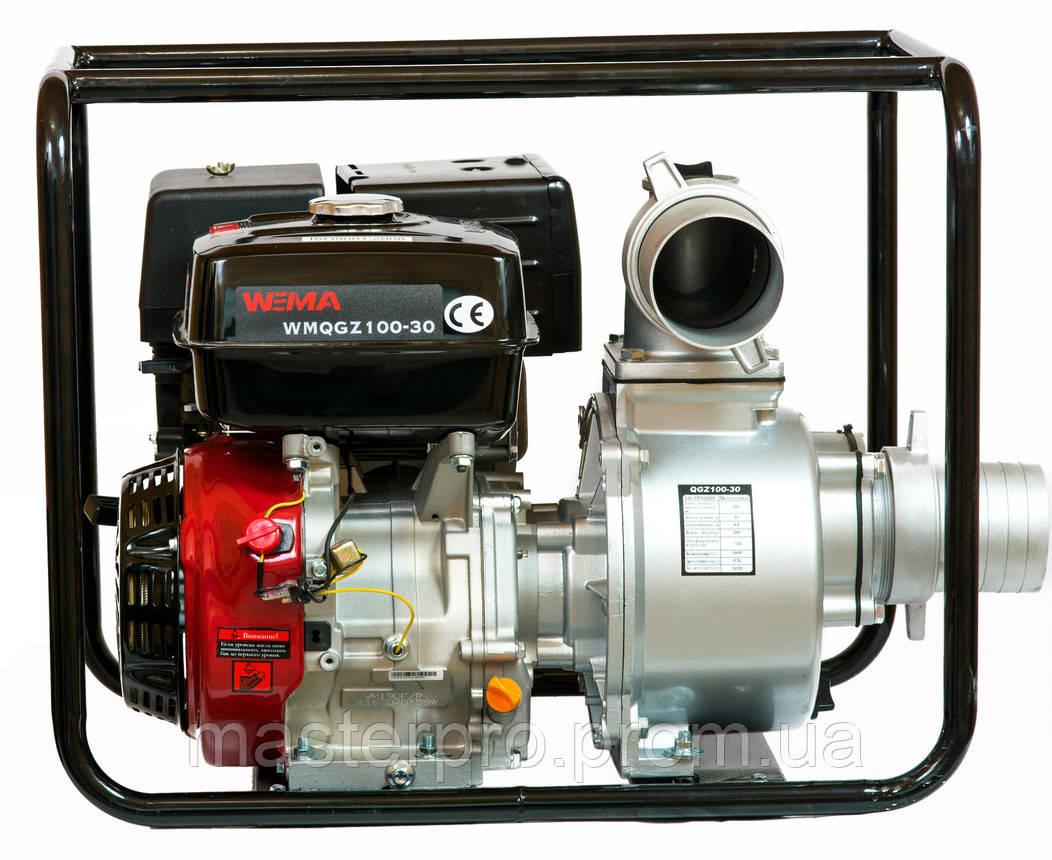 Мотопомпа бензиновая Weima WMQGZ100-30 (Двигатель 16 л.с.)