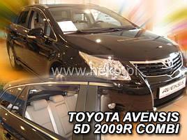 Дефлектори вікон (вітровики) Toyota Avensis 2009 -> Combi 4шт (Heko)