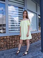 Легкое воздушное летнее платье - резинка