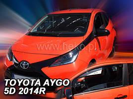 Дефлекторы окон (ветровики)  Toyota Aygo/С1 2014-> 5D 2шт (Heko)