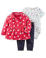 Модный комплект  3в1 для девочек (24 мес) Carter's 3-Piece Little Jacket Set