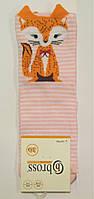 Носки с 3-D рисунком детские хлопковые лисички, фото 1
