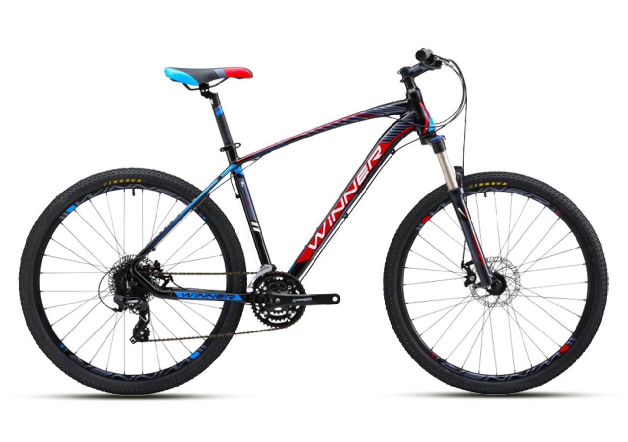 """Горный велосипед WINNER DRIVE 27,5"""" 17"""", 19""""Черный / Синий"""