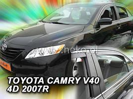 Дефлекторы окон (ветровики)  Toyota Camry 2006 -> 4D (V40) 4шт (Heko)