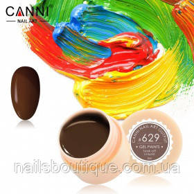 Гель краска Canni №629, молочный шоколад