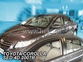 Дефлектори вікон (вітровики) Toyota Corolla 2008 -> 4шт (Heko)