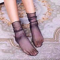 Носки из фатина с серебристыми нитями