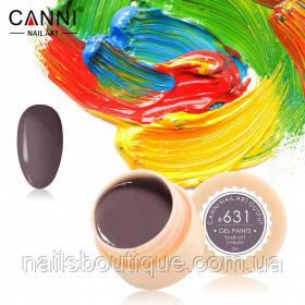 Гель краска Canni №631, темно-коричневосерая