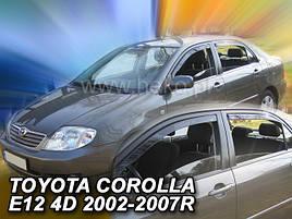 Дефлекторы окон (ветровики)  Toyota Corolla 9 2001-2007 4D Sedan 4шт (Heko)