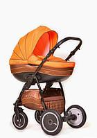 Универсальная коляска 2 в 1 Ajax Group Pride, Коричневый+оранжевый (85/05)