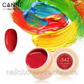 Гель краска Canni №542, темно-красная