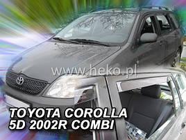 Дефлекторы окон (ветровики)  Toyota Corolla 9 2001-2007 5D Combi 4шт (Heko)