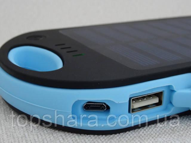 Портативное зарядное Power Bank Solar 45000 mAh на солнечной батареи, синий