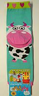 Хлопковые носки c 3D мятного цвета с коровой детские , фото 1