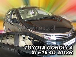 Дефлекторы окон (ветровики)  Toyota Corolla E16 2013r-> 4d SEDAN 4шт (Heko)