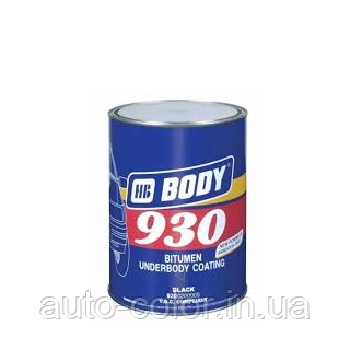 Мастика для днища BODY 930 (1кг) полимерно-битумная
