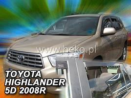 Дефлекторы окон (ветровики)  Toyota Highlander 2007R.-> 5D 4шт (Heko)