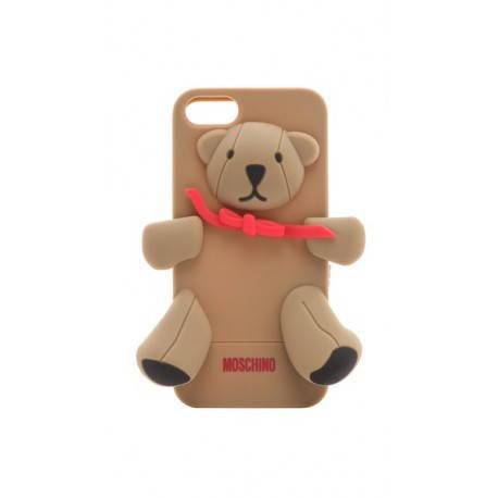 Чехол Moschino Bear Коричневый на IPhone 5/5S