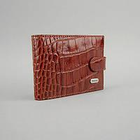 Визитница кожаная (крокодил) 20шт. карты застежка Desisan, фото 1