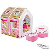 """Игровой центр-домик Intex """"Princess Play House"""" 48635 (стол +кресло)"""