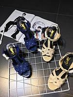 Стильные женские босоножки на каблуке YSL 2 цвета, фото 1