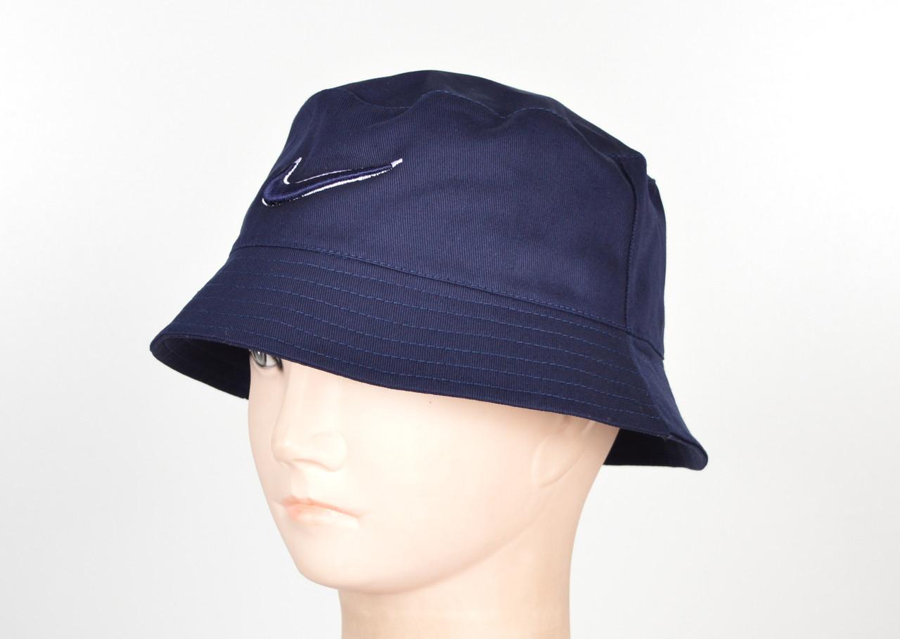 Котоновая панама оптом N1810 синий вышивка