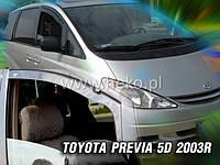 Дефлекторы окон (ветровики)  Toyota Previa 2000-2005 5D 2шт (Heko)