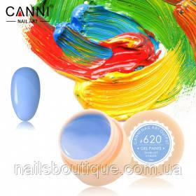 Гель краска Canni №620, пастельно-голубая