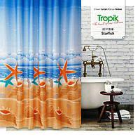 Шторки для ванной тканевые Tropik и Jackline 180х200 см.