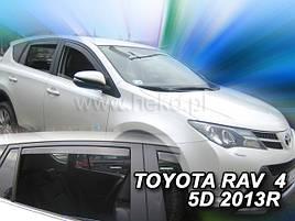 Дефлекторы окон (ветровики)  Toyota RAV-4 2013 -> 5D 4шт (Heko)