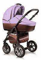 Детская универсальная коляска 2 в 1 Glory (Глори), Ajax Group, коричневый+сирень (85/130)