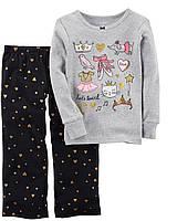 Комплект Carter's для девочки, 2-Piece Ballerina Cotton & Fleece PJs (2 года)