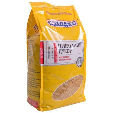 """Природный неочищенный сахар """"Солодко"""", 1 кг"""