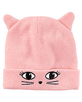 Милая шапочка для девочки с 3D ушками Knit Character Hat Carter's
