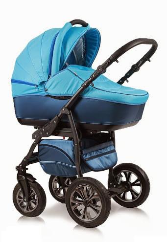 Детская универсальная коляска 2 в 1 Glory (Глори), Ajax Group, синий+я.голубой (58/31)