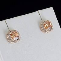 Роскошные серьги с кристаллами Swarovski, покрытые слоями золота 0788