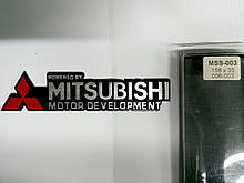 Надпись MITSUBISHI металл  158х35 мм