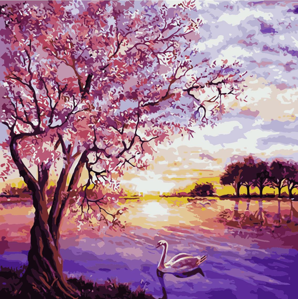 Набор для рисования Закат в розовых тонах ArtStory AS0228 40 х 40 см (без коробки)