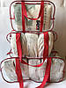 Набор из 3 прозрачных сумок в роддом - S,M,L - Синие, фото 8